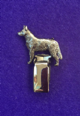 Dog Show Breed Ring Number Clip - Australian Cattle Dog - FULL BODY Silver or Gold Style